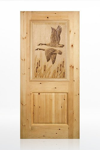 Geese Design Wood Door