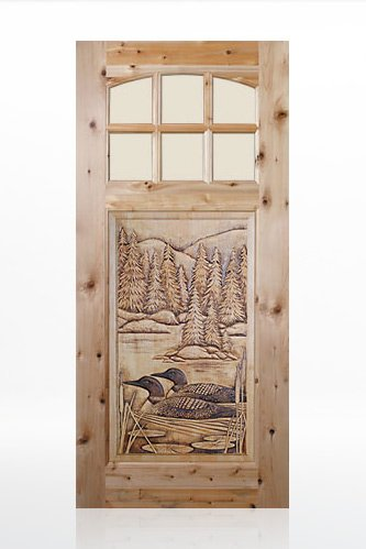 Loons Wood Door Design
