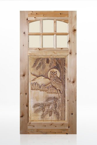 Owl- Cutom Wood Door