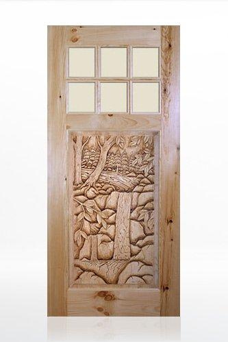 Rustic Carved Wood Doors Cabin Doors Log Home Doors Timber