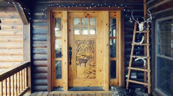 Rustic Wood Front Doors for Sale | Log Home & Cabin Screen Doors ...