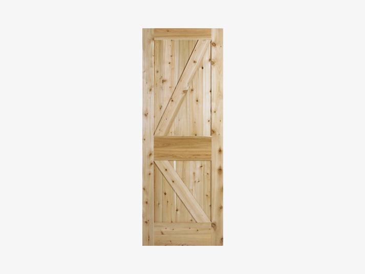 K Brace Wood Panel Door