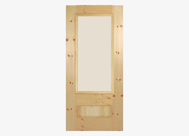 3/4 Lite Glass Door