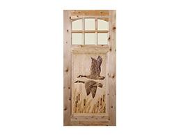 Geese Design Wood Door