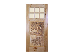 Owl- Cutom Wood Door