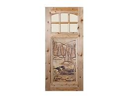 Loons Wood Door Design
