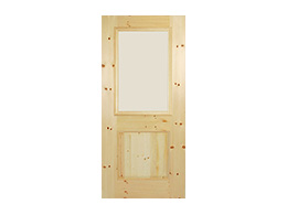 TVM-1575- V-pine Glass Doors