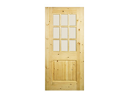 TVM 1580-V-pine Glass Doors