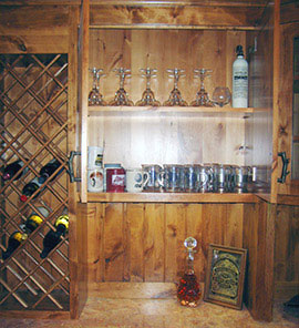 Custom Wood Cabinets for Wine Room