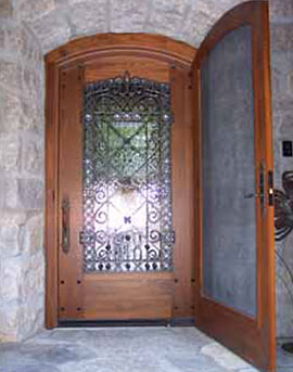 Custom Wood Single Door