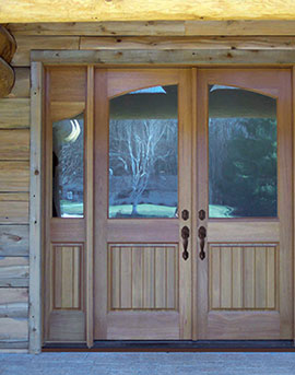 Custom Wood Double Door