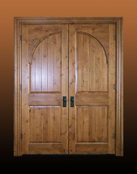 Custom Wood Double Door