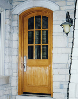 Cutom Wood Glass Door