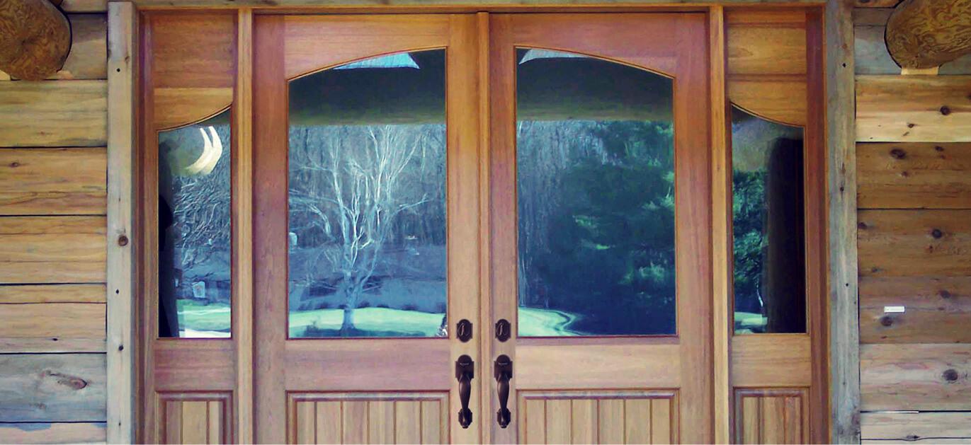 Rustic Wood Front Doors For Sale Log Home Cabin Screen Doors