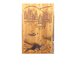 Otter with Loons. Wood Carved  sc 1 st  Timber Valley Millwork & Wood Carved Doors | Hand Carved Doors | Bull Moose 1560-C1